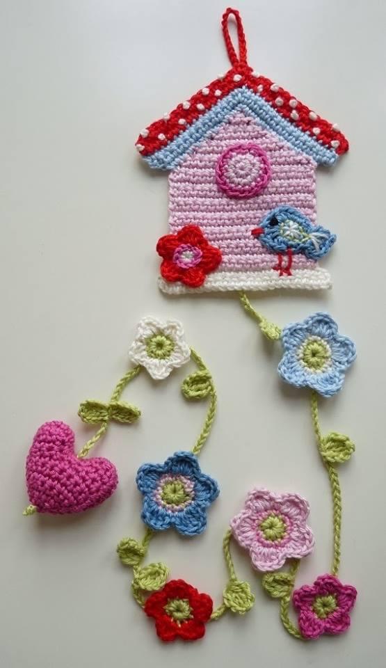 Ocuk odalar i in el rg s duvar s sleri rg dantel ve el i leri sitesi Crochet home decor on pinterest