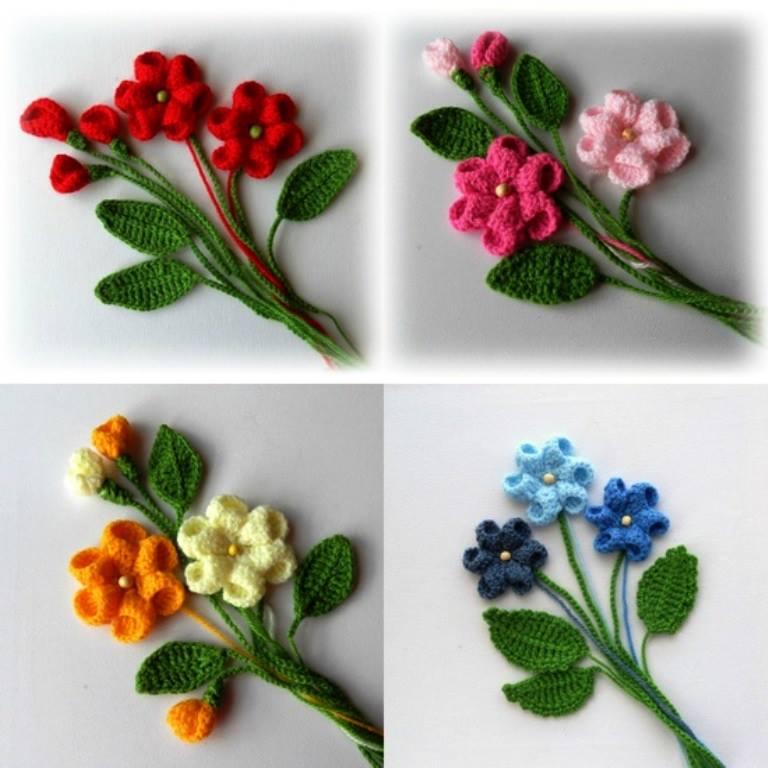 örgü çiçek Buketi Modelleri örgü Dantel Ve El Işleri Sitesi