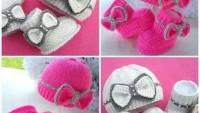 Örgü Bebek Şapka ve Patik Takımı Modelleri