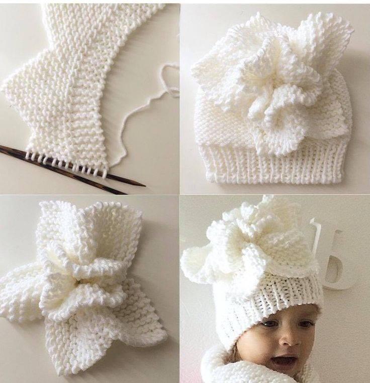beyaz örgü şapka