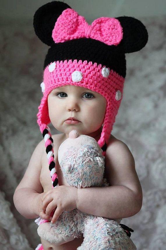 Pembe Siyah Kız Şapkası