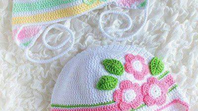 Çiçek Motifli Örgü Şapka Tarifi