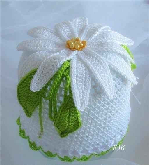 beyaz bebek şapkası