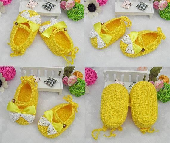sarı bebek patiği