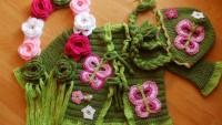 Bebekler için Yeşil Örgü Hırka Takımı Tarifi
