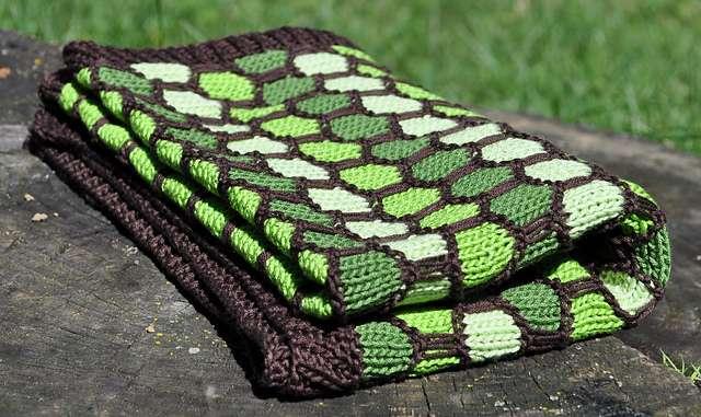 Bal Peteği Örgü Modeli  Battaniye
