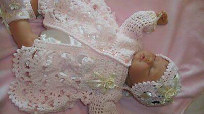 Örgü Kız Bebek Takımı Tarifi – Yapılılışı