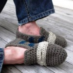 ayakkabı görünümlü erkekler için örgü patik modeli
