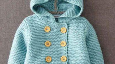 Kapşonlu Bebek Hırkası Tarifi – Yapılışı