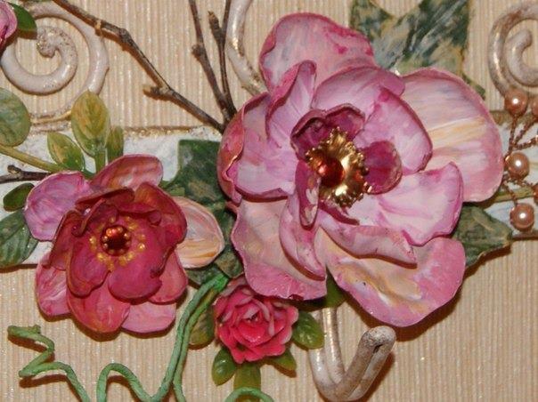 boyanmış çiçekler