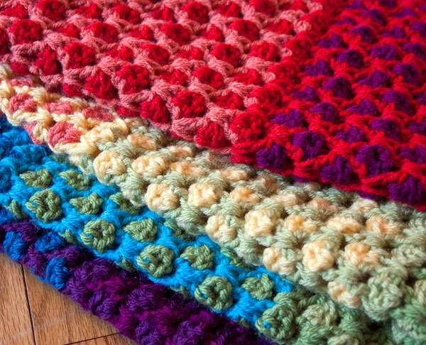 Free Crochet Afghan Patterns For Young Adults : T?? ??i G?kku?a?? Kutucuklarla Battaniye ?relim ?rg? ...