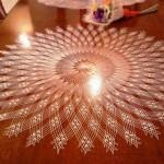 iğne oyası yuvarlak masa örtüsü dantel
