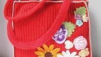 Üzeri İşlemeli Yazlık Örgü Bayan Çanta Modelleri