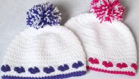 Kalp Desenli Şapka Yapılışı