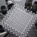 kare salon takımı dantel motifi