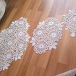 oval motifli salon takımı peçete dantel örnekleri