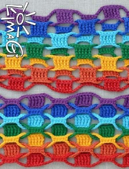 rengarenk örgü atkı (2)
