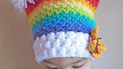 Renkli Örgü  Bebek Şapkası Tarifi