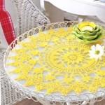 sarı renkli salon peçete modelleri