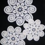 yuvarlak çiçek motifli dantel anglez modeli