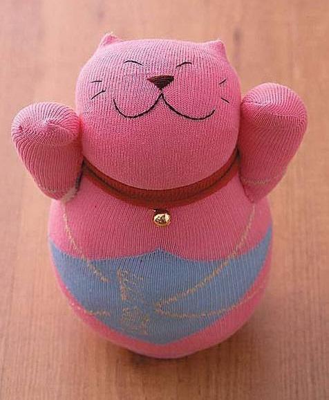 çoraptan oyuncak kedi yapımı
