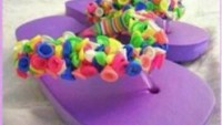 Balon İle Plaj Terliği Süsleme Projesi