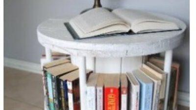 Kablo Makarasından Kitaplık ve Sehpa Tasarımı