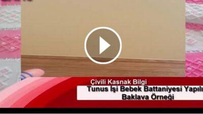 Tunus İşi Bebek Battaniyesi Yapılışı Baklava Örneği