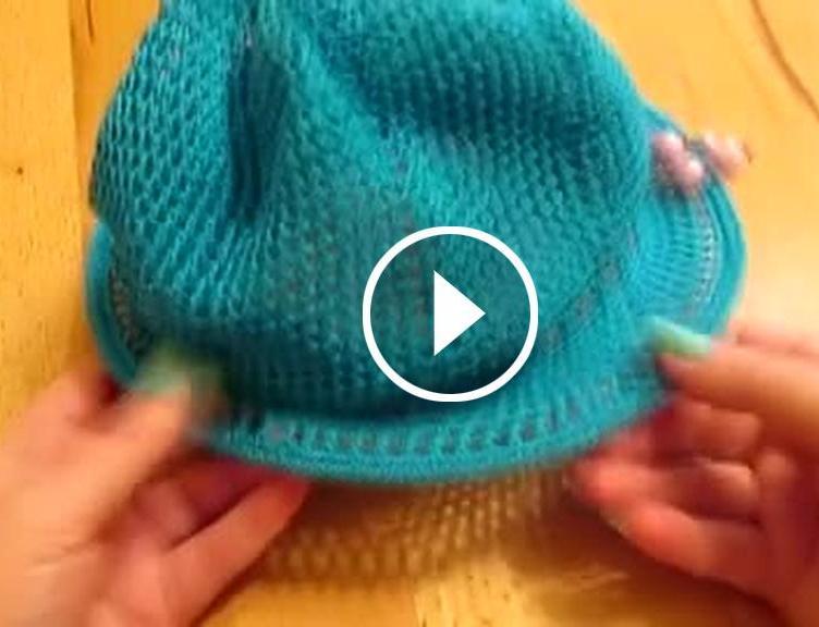 Tığ İşi Kolay Şapka Modeli Videolu Anlatım