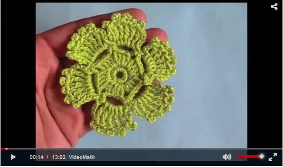 Tığ ile Çiçek Motif Yapımı