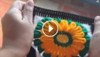 Tığ İşi Kare Çiçek Motifi Örneği