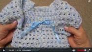 Tığ İşi Bebek Hırkası 0-3 Ay