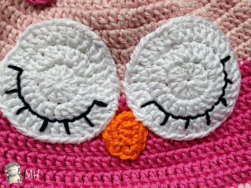 Bebekler İçin Tığla Baykuş Şapka