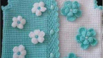 Tunus işi çiçeklerle süslü yelek yapımı