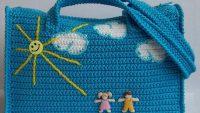Makrome ipinde çanta yapımı