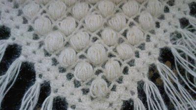 Fıstıklı üçgen şal yapımı