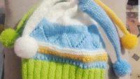 Ponpon Süslemeli Ajurlu  Soytarı Şapkası Nasıl Örülür. 1 .2 yaş