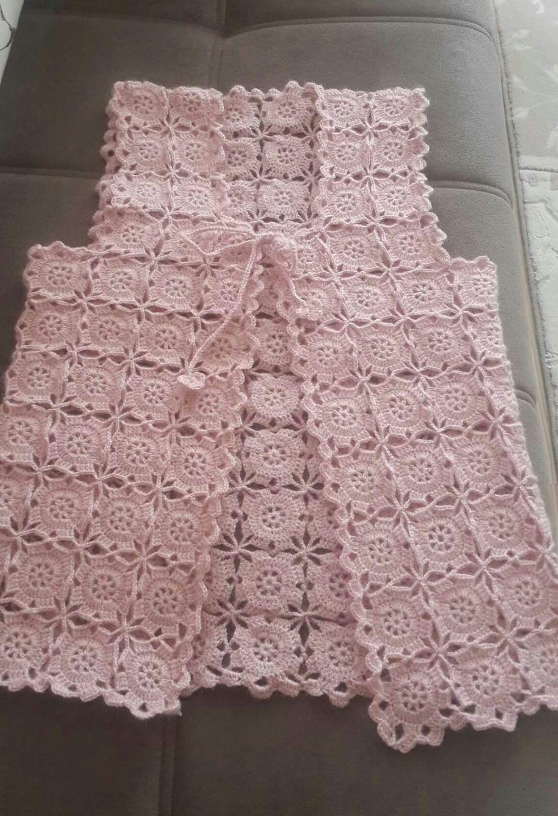 Tığ İşi Renkli Fıstıklı Çiçek Süslemeli Çeyizlik Bayan Yelek Yapımı. 38 .40 beden 53
