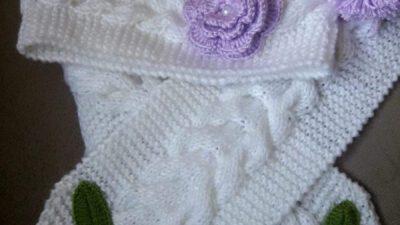 Burgu Ve Çiçek Süslemeli  Çocuk Şapkası / Beresi Yapımı 2 .3 Yaş