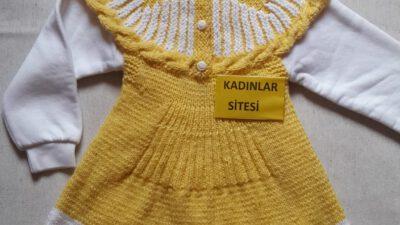 Güneş Çocuk Elbise / Jile Yapımı. 2 Yaş