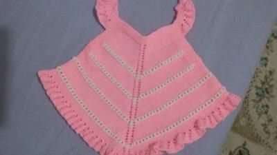 Volan Süslemeli 2 Renkli Çocuk Jile / Elbise Tarifi. 2 .3 Yaş